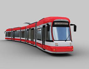 Bombardier Flexity tram Krefeld 3D model