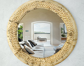 3D model 19th Century Ox Cart Wagon Wheel Mirror