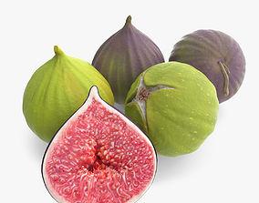 3D model Detailed Fig Fruit