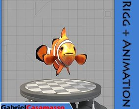 3D model animated Clown Fish