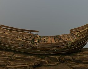 3D asset Galleon Shipwreck