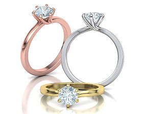 3D Six Twisted prongs Engagement ring 4rings collection