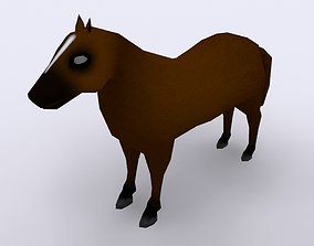 3D model Low-poly Horse