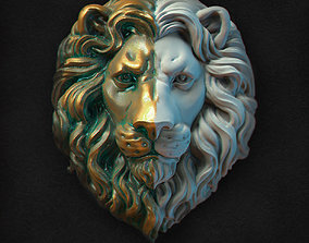3D printable model Lions Head relief
