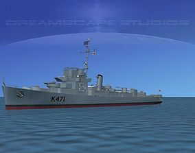 3D model UK Captains Class Frigate HMAV Cooke