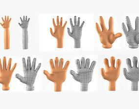 Hands Basemesh Collection 3D Models for Cartoon 1
