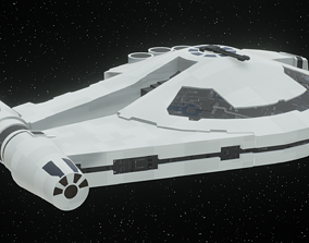 Spaceship - Imperial YT2400 Low Poly 3D asset