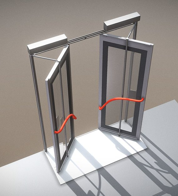 Bus Door (1) Inward Gliding (Rig and Animation)