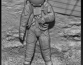3d STL model for CNC moonlight astronaut