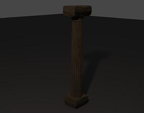 3D model Greek Architecture Pillar