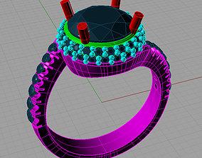 Solitaire Round diamond Anello solitario 3D print model 1