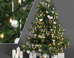 merry pine Christmas tree 3D