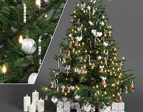 Christmas tree 3D model flashlights