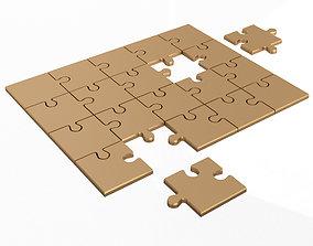 3D model Golden Jigsaw Puzzle 03