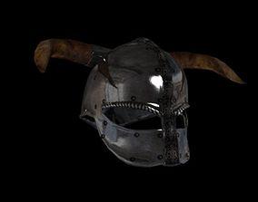 3D model game-ready viking helmet