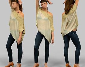 3D model Elegant girl posing