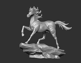 Arabian Horse Run On Rock 3D printable model