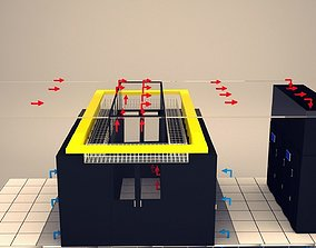 3D model Data Communication Server Room 2