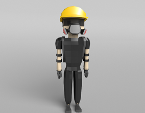 Low Poly Protestor Type 7 3D model game-ready