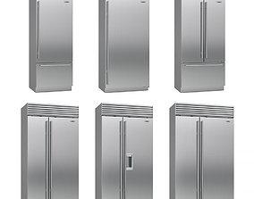 3D model Sub-Zero fridges