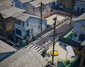 Japanese Residential Area Collection - 6 Model Packs