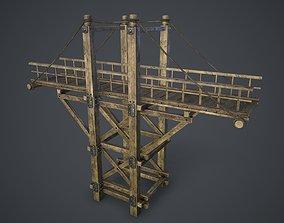 Timber bridge 3D asset