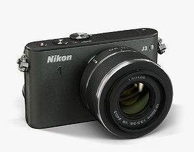 Nikon 1 J3 10-30mm Black 3D model