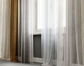 3D Curtains and window for interior visualization