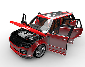 Range Rover With interiar 3D model
