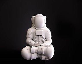 meditation 3D print model Astronaut meditating