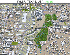 Tyler Texas USA 35km 3D model
