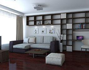 interior architectural 3D model Living Room