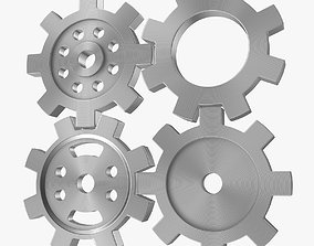 4 Different Gear 3D asset