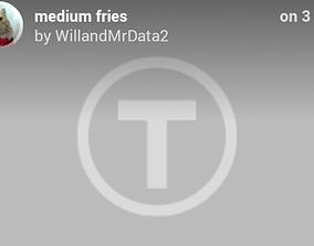 3D printable model Medium fries