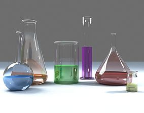 3D model Glass Ware Laboratorium