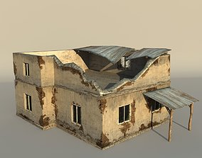 3D model Middle East destroyed house for game num01