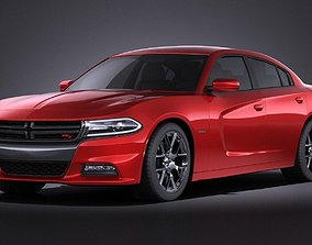 Dodge Charger 2015 VRAY 3D model