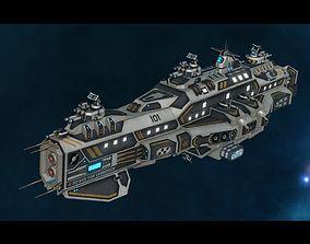 von Lahnstein Class Cruiser 3D asset