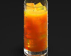 3D Glass of juice