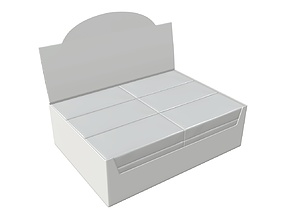 3D model Package blank white with waffle wraps mock up 02