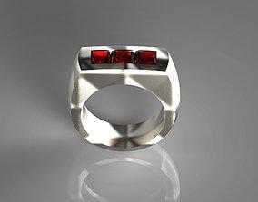 Simply Tri-Ruby Titanium Ring 3D printable model
