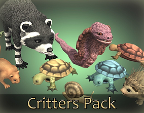 3D model Small Animals Critters Pack