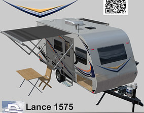 3D asset Lance 1575 Travel Trailer
