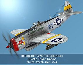 3D model Republic P-47D Thunderbolt - Uncle Toms Cabin