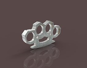 Brass knuckles rendering 3D