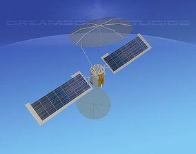 3D COMSAT MUOS Satellite