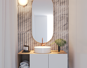 interior Bathroom Scene 3D
