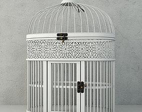 White Metal Bird Cage by ZARA HOME 3D model