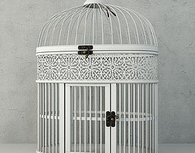 White Metal Bird Cage by ZARA HOME 3D model