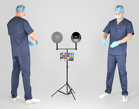 3D model game-ready Male surgical doctor 02